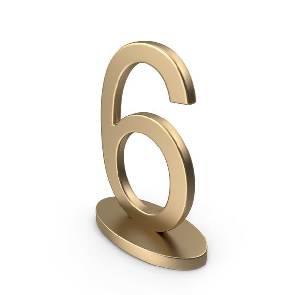 Table Numbers Sign 6