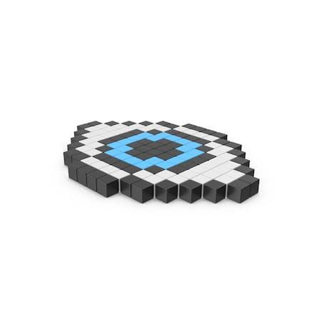 Icono de ojo pixelado