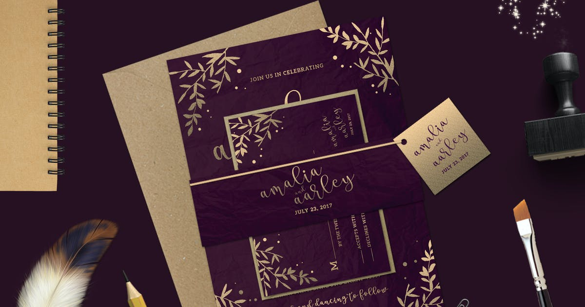 Download Leaves Wedding Invitation by Unknow