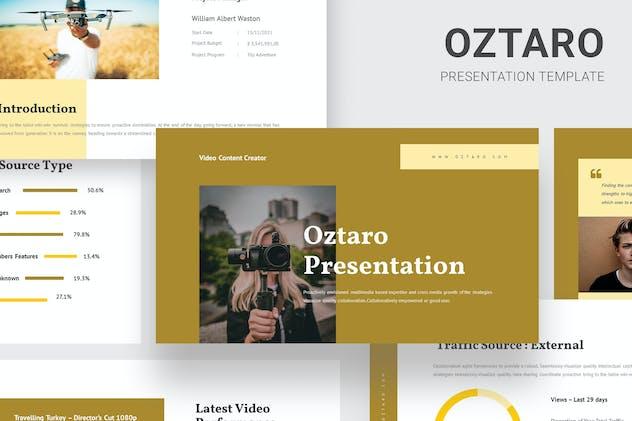 Oztaro - Video Content Creator Google Slides
