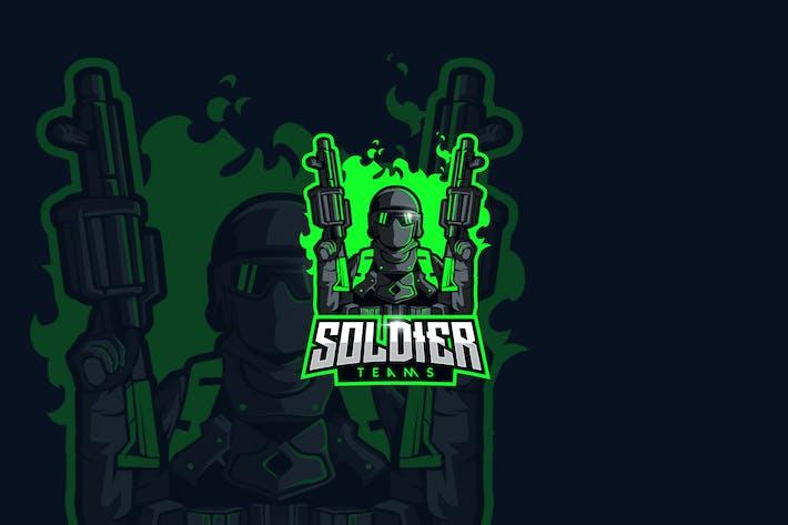 Thumbnail for Soldier Esport Gaming Logo