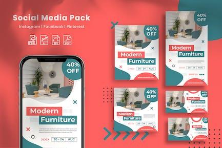 Modern Furniture - Social Media Pack