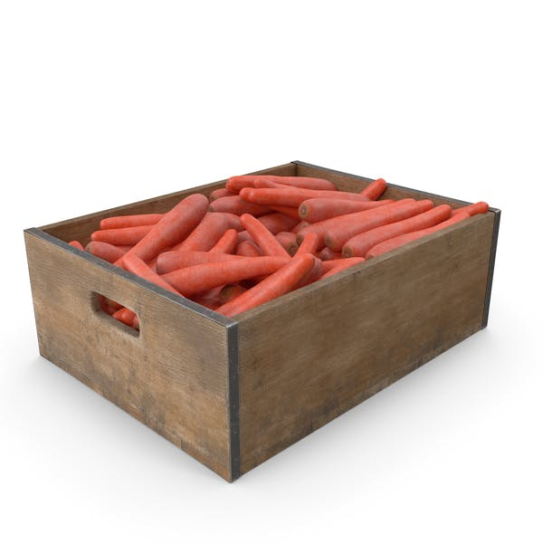 Karotten-Fruchtkiste