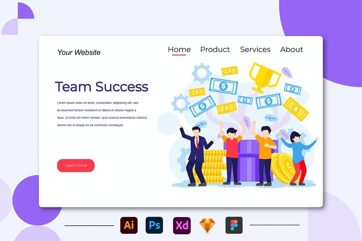 Thumbnail for Team Succes - Landing Page