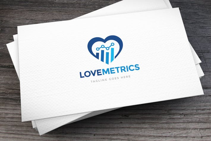Metrics Love Logo Template