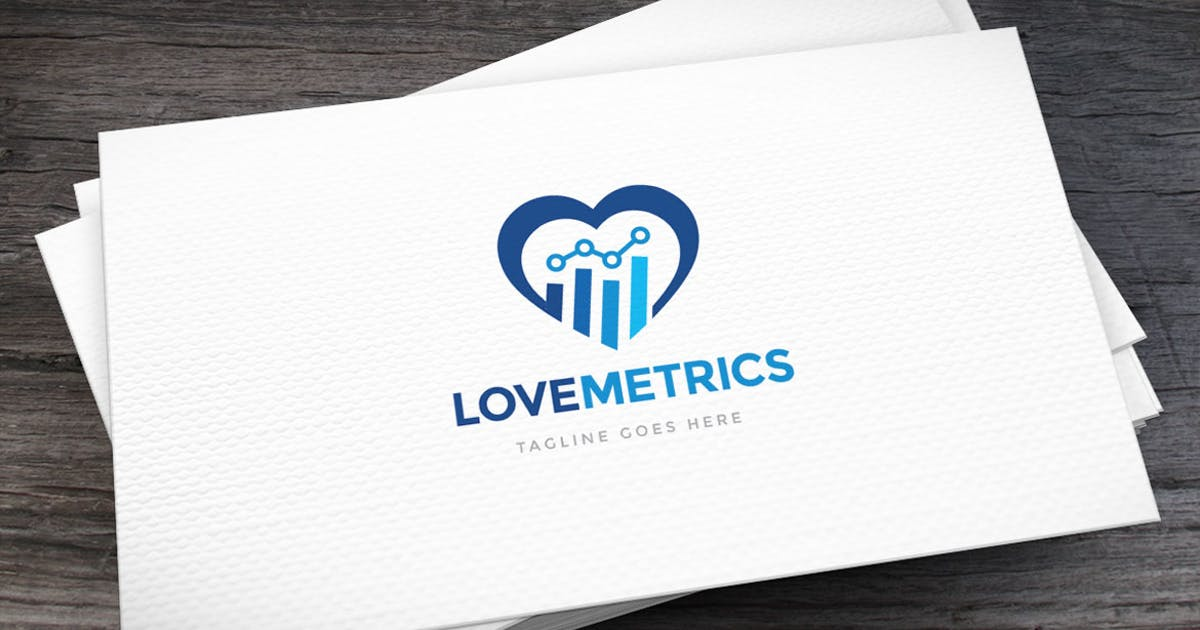 Download Metrics Love Logo Template by empativo