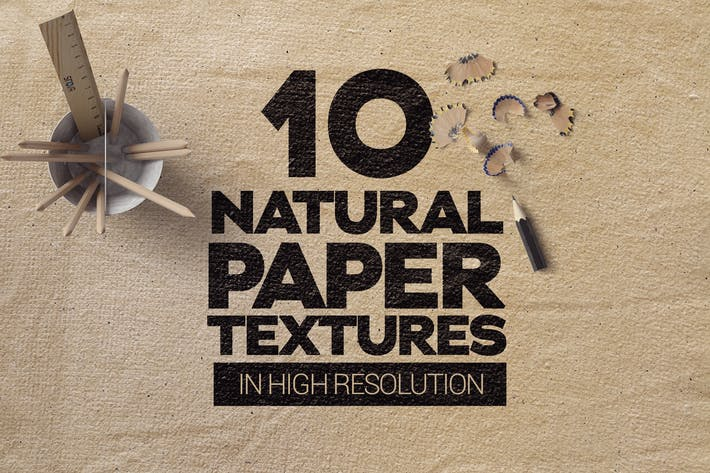 Cover Image For Natural Paper Textures x10