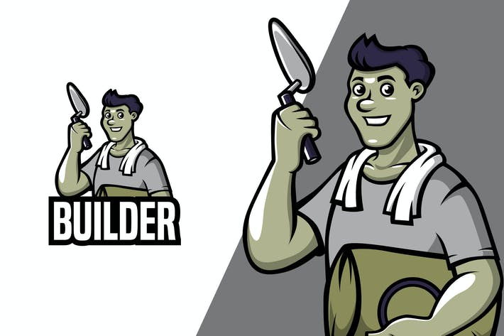 Thumbnail for Builder - Mascot Logo Template