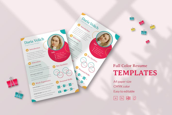 Thumbnail for Creative Colorful CV Resume