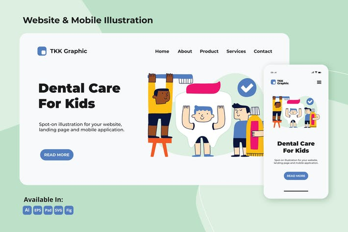 Thumbnail for Dental care campaign for kids web and mobile