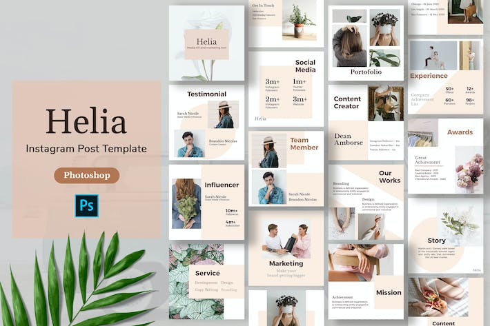 Thumbnail for Helia - Minimalism Instagram Post Template