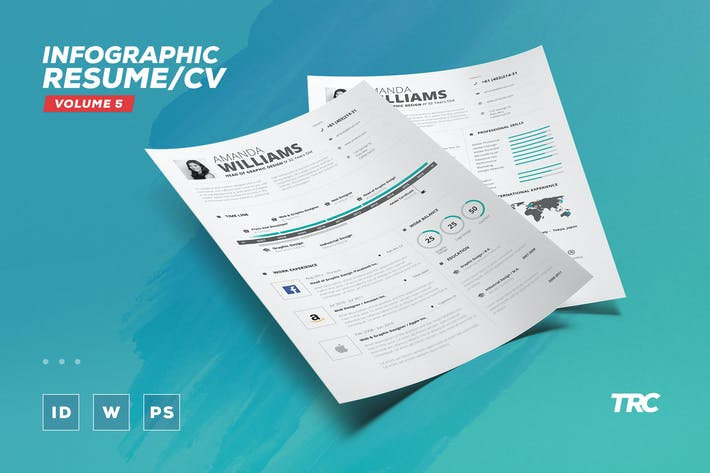 Thumbnail for Infographic Resume/Cv Volume 5