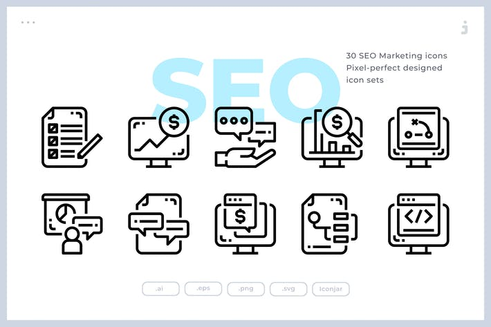 Thumbnail for 30 SEO Marketing Icons