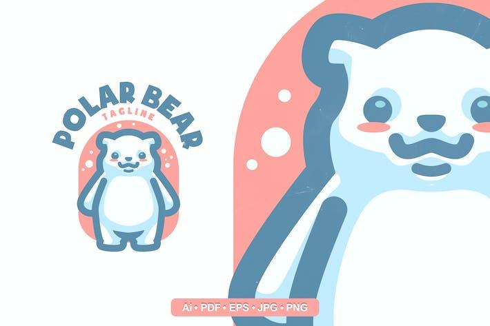Thumbnail for Cute polar Bear Mascot logo