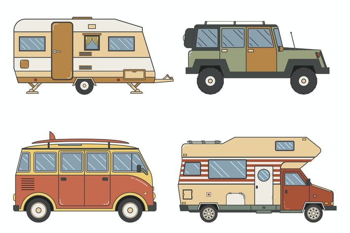 Thumbnail for RV Campers and Caravans Set