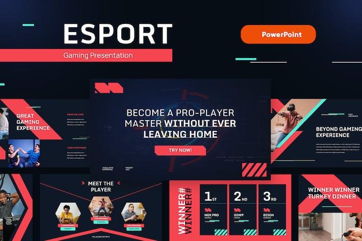 ESPORT - Игровой и технический Шаблон Powerpoint