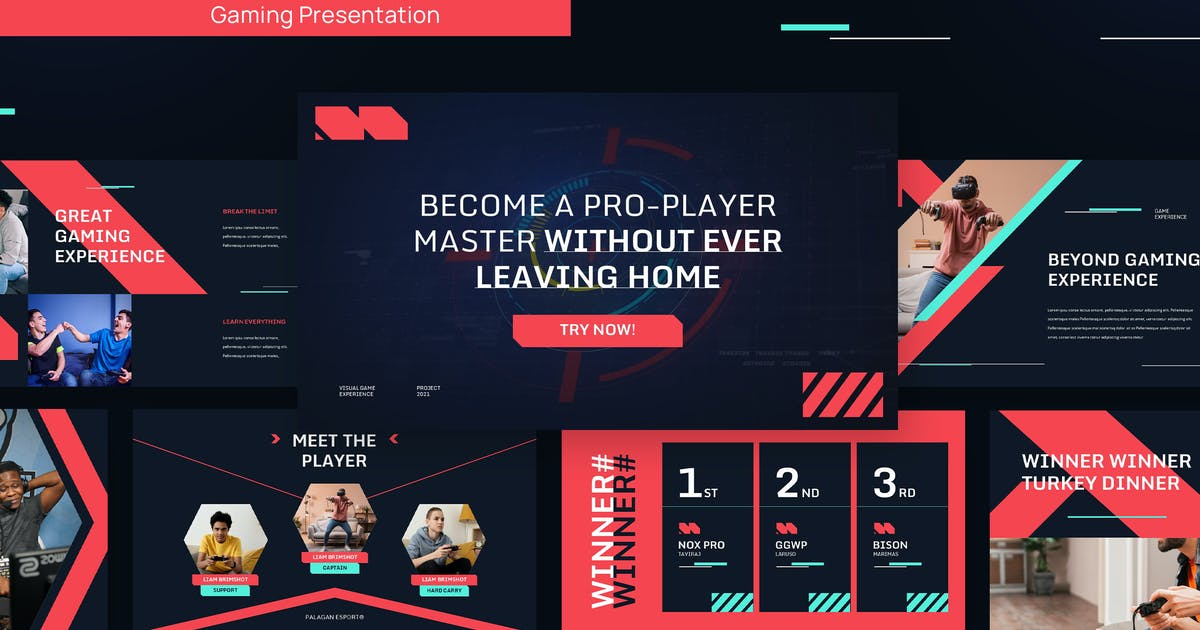 Download ESPORT - Gaming and Tech Powerpoint Template by rgbryand
