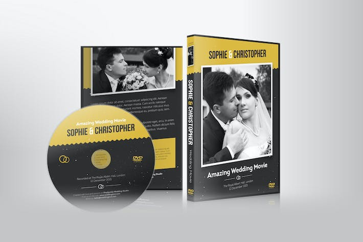 Thumbnail for Wedding DVD Cover with Disc Label Set