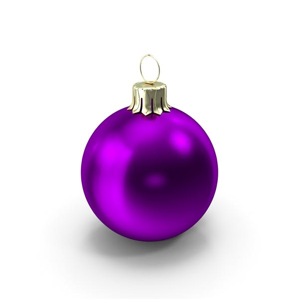 Thumbnail for Standing Purple Christmas Ornament