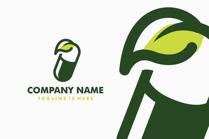 Thumbnail for Capsule Leaf Herbal Logo