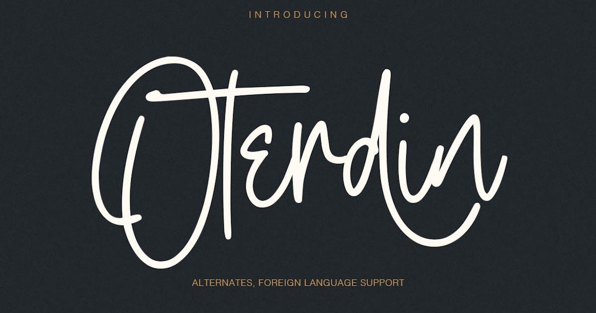 Download Oterdin - Handwritten Font by maulanacreative