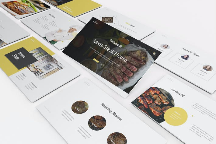 Thumbnail for Steak House Google Slides Template