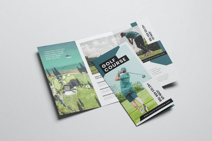 Thumbnail for Creative Golf AI and PSD Trifold Brochure