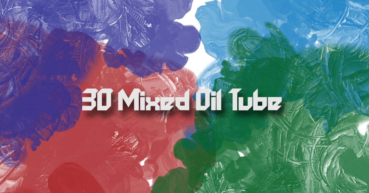 Download 30 Mixed Oil Tube Brushes by gblack-id