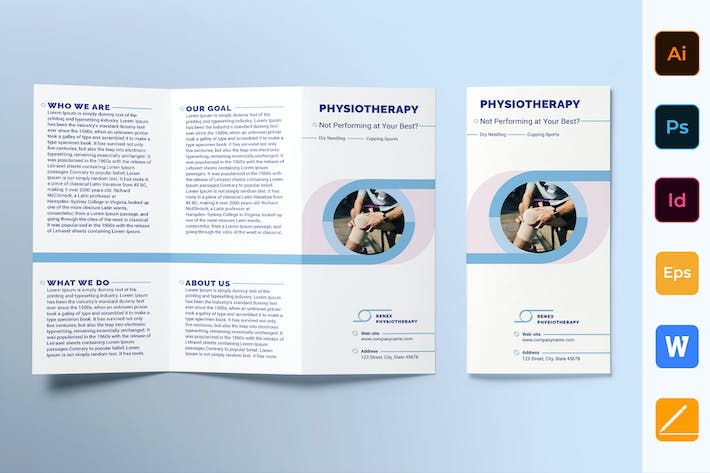 Thumbnail for Physiotherapy Brochure Trifold