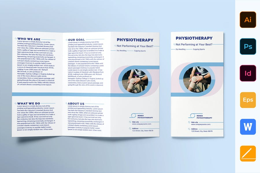 Physiotherapy Brochure Trifold
