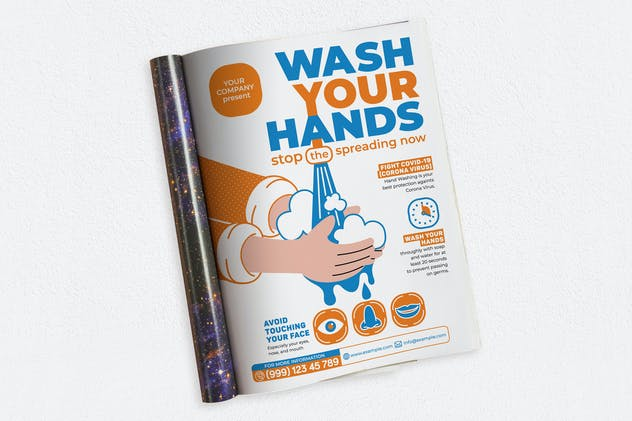 Wash Your Hands Ads Magazine