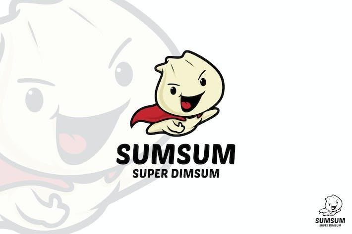 Mascotte Logo Super Dimsum