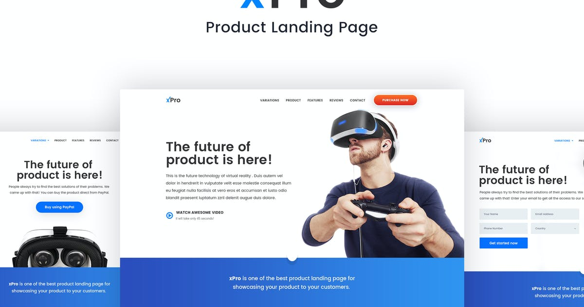 Download Product Landing Page - xPro by teamuxtheme