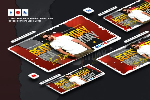 Guest DJ Youtube, Facebook Timeline Cover