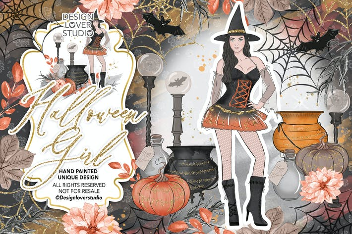 Thumbnail for Halloween Girl design