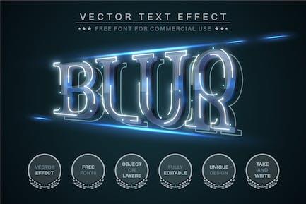 Blur - Editable Text Effect, Font Style