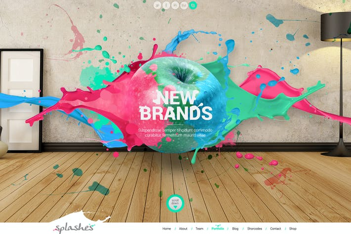 Cover Image For Splashes Creative Agency Template