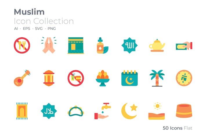 Muslim Color Icon