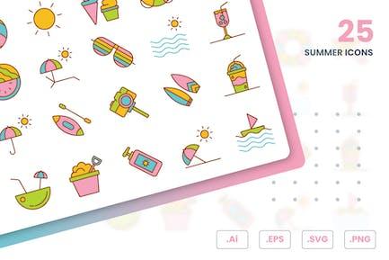 Набор летних Иконки к