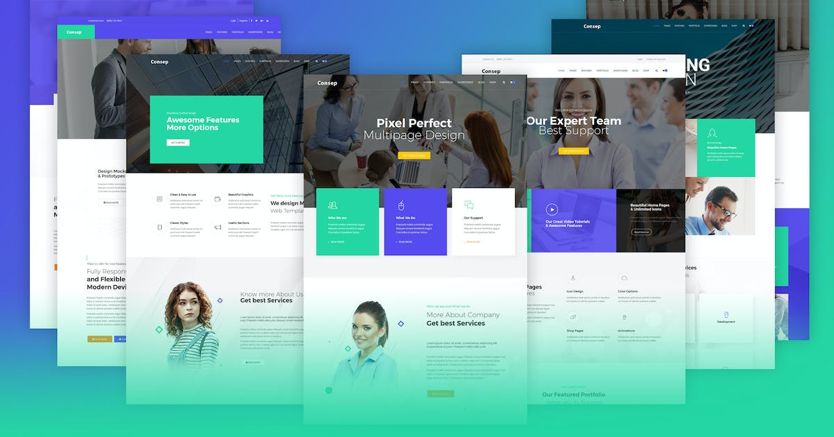 Download Consep - Responsive Multipurpose HTML5 Template by codelayers