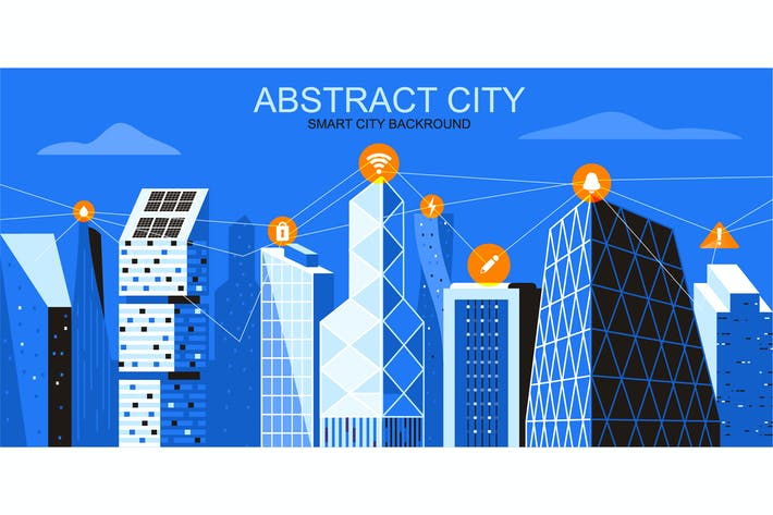Thumbnail for Smart City Vector Illustration Header Website
