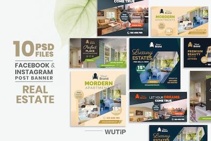 10 Social Media Banners - Real Estate