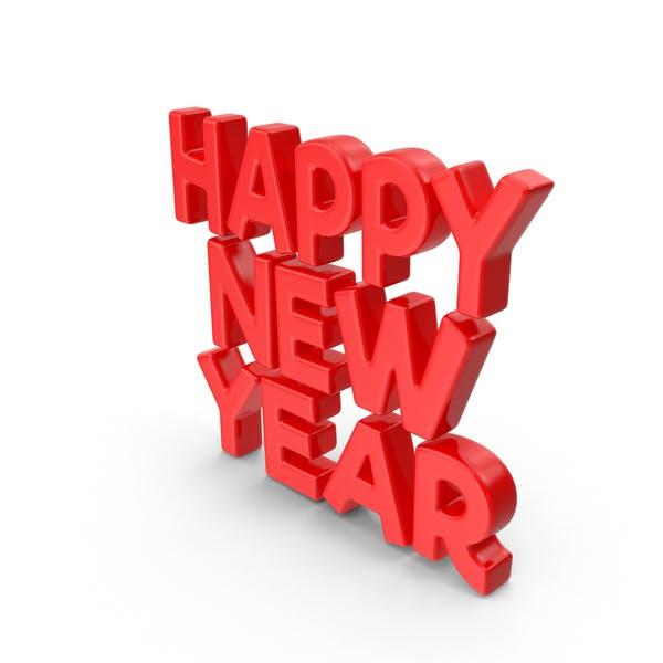 Toon Año Nuevo Rojo