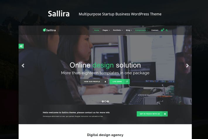 Thumbnail for Sallira - Mehrzweck-Startup WordPress Thema