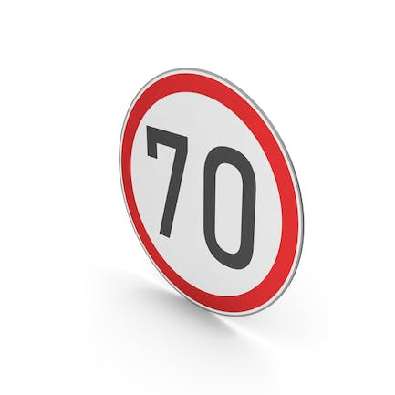 Road Sign Speed Limit 70