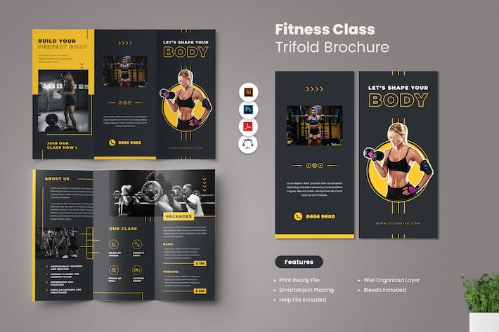 Fitness Class Brochure Trifold