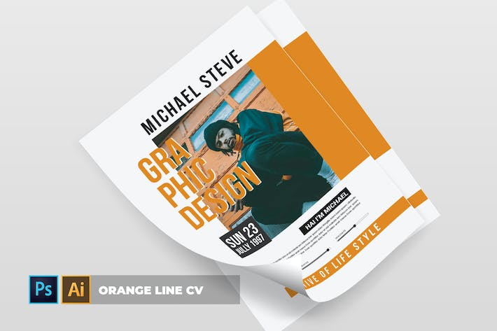 Thumbnail for Orange Line | CV & Resume