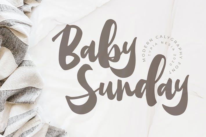 Детское воскресенье - Каллиграфический шрифт