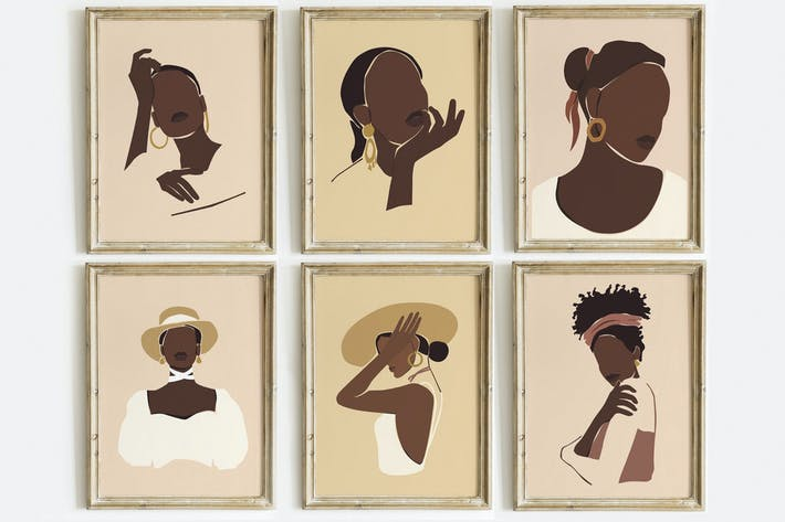 Thumbnail for African Girls Portrait Prints