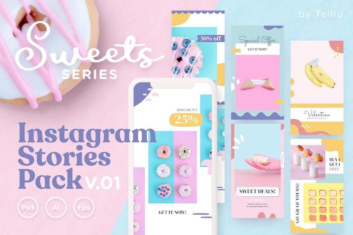 Cover Image For Instagram Stories Pack v.01 Süßigkeiten Serie